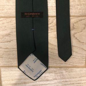 Yves Saint Laurent Accessories - Yves Saint Laurent Paris New York Green Tie